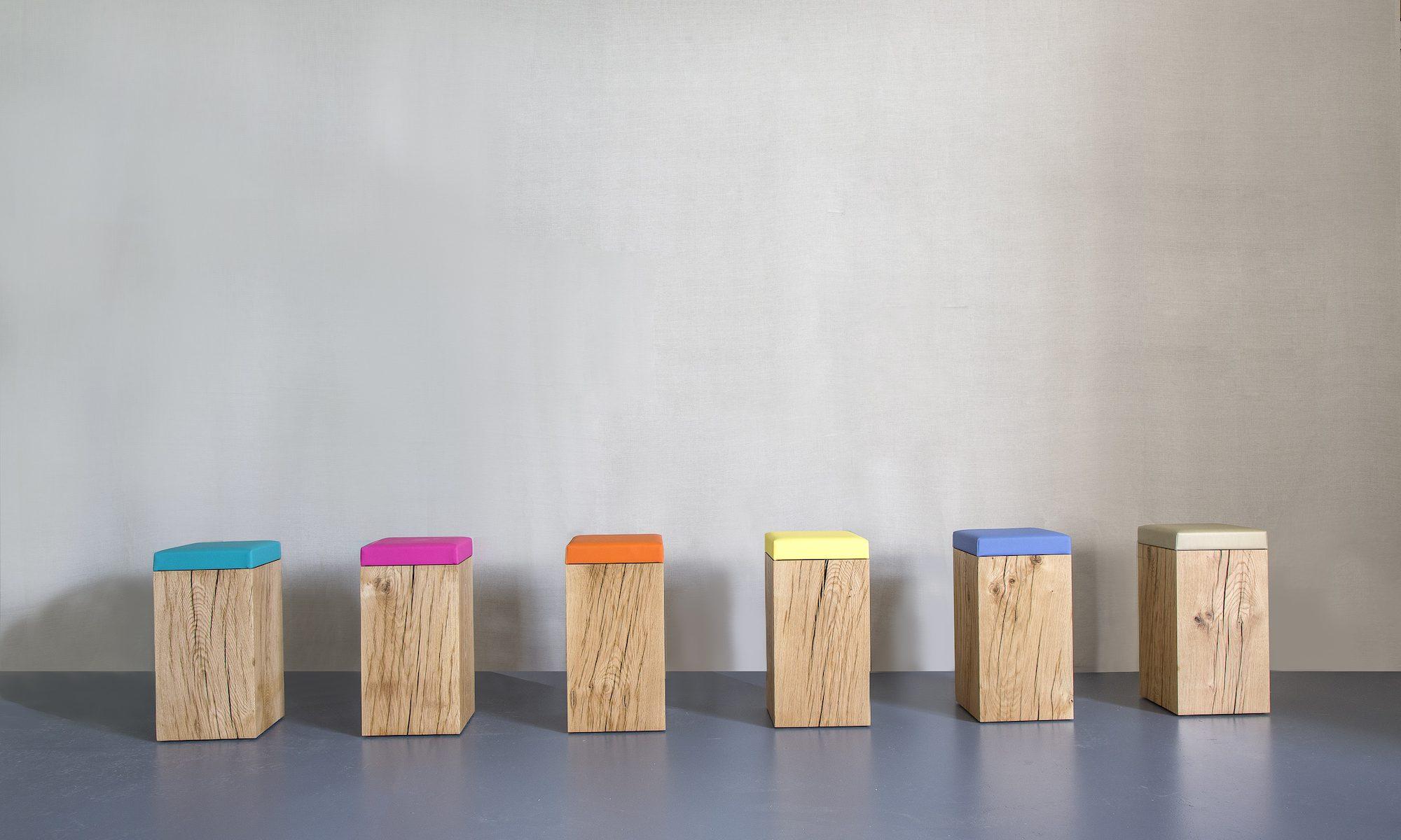 solid oak stools